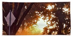 Bath Towel featuring the photograph November Sunrise by Bill Owen