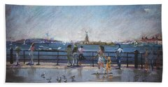 Nyc Grand Ferry Park 2 Hand Towel by Ylli Haruni