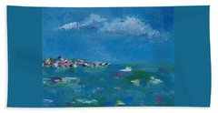 Hand Towel featuring the painting Ocean Delight by Judith Rhue