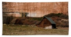 Hand Towel featuring the photograph Old Barn In Angel Canyon #1  by Nola Lee Kelsey