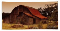 Hand Towel featuring the photograph Old Barn by Lydia Holly