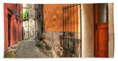 Old Colorful Rustic Alley Hand Towel