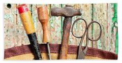 Hand Towel featuring the photograph Old Tools by Tom Gowanlock