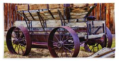 Old Wagon Bodie Ghost Town Hand Towel
