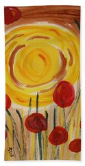Bath Towel featuring the painting On A Sunny Island by Mary Carol Williams