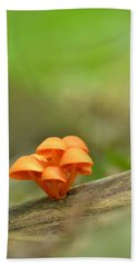 Bath Towel featuring the photograph Orange Mushrooms by JD Grimes