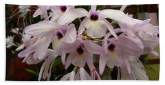 Hand Towel featuring the photograph Orchids Beauty by Donna Brown