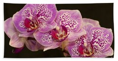 Orchids Bath Towel by Eunice Gibb