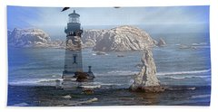 Bath Towel featuring the photograph Oregon Coast Composite by Nick Kloepping