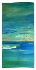 Bath Towel featuring the painting Organic Seascape by Dolores  Deal