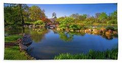 Osaka Garden Pond Hand Towel