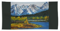 Oxbow-grand Tetons  Bath Towel