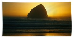 Hand Towel featuring the photograph Pacific City Sunset by Chriss Pagani