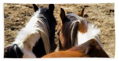 Painted Horses IIi Hand Towel by Angelique Olin