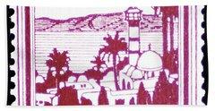 Palestine Vintage Postage Stamp Bath Towel by Andy Prendy