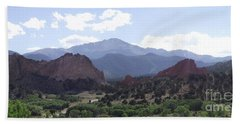 Panoramic Garden Of The Gods Hand Towel