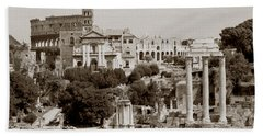 Panoramic View Via Sacra Rome Bath Towel