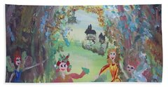 Panto Time Hand Towel by Judith Desrosiers