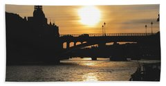 Parisian Sunset Hand Towel