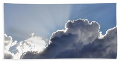 Partly Cloudy Bath Towel by Rebecca Margraf