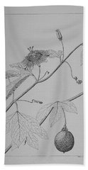 Passionflower Vine Bath Towel by Daniel Reed