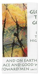 Peace And Goodwill Toward Men Hand Towel by Angela L Walker