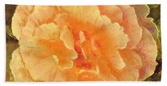 Peach Begonia Bath Towel