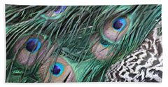 Peacock Feathers Bath Towel by Donna  Smith