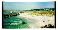 Bath Towel featuring the photograph Pebble Beach by Nina Prommer
