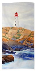 Peggy's Cove Hand Towel by Laurel Best