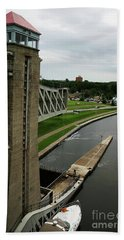 Bath Towel featuring the photograph Peterborough Lift Lock by Alyce Taylor
