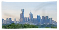 Philly Skyline Hand Towel by Bill Cannon