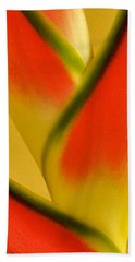 Photograph Of A Lobster Claws Heliconia Bath Towel