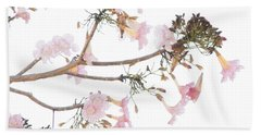 Pink Blossoms In Panama Bath Towel