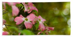 Pink Dogwood Blooms Bath Towel