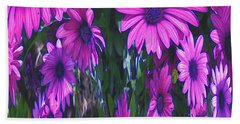 Pink Flower Power Bath Towel