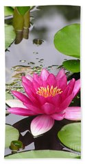 Pink Lily Flower  Hand Towel