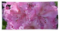 Hand Towel featuring the photograph Pink Rhododendrons by Chriss Pagani