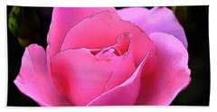 Bath Towel featuring the photograph Pink Rose Day by Clayton Bruster