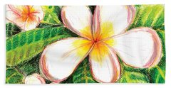 Plumeria With Foliage Hand Towel