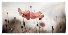 Poppy Flowers 03 Hand Towel