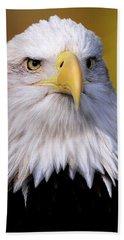 Portrait Of A Bald Eagle Bath Towel