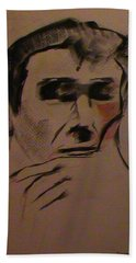 Hand Towel featuring the painting Portrait Of Frank Frazetta by George Pedro