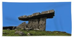 Hand Towel featuring the photograph Poulnabrone Dolmen by David Gleeson