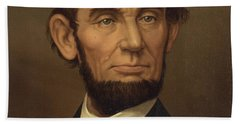 Hand Towel featuring the photograph President Of The United States Of America - Abraham Lincoln  by International  Images