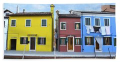 Bath Towel featuring the photograph Primary Colors In Burano Italy by Rebecca Margraf