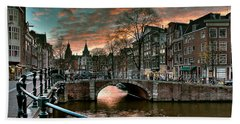 Prinsengracht And Reguliersgracht. Amsterdam Bath Towel