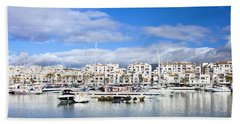 Puerto Banus Marina On Costa Del Sol Hand Towel