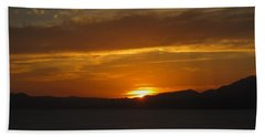 Hand Towel featuring the photograph Puerto Vallarta Sunset by Marilyn Wilson