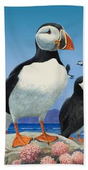 Puffins Hand Towel